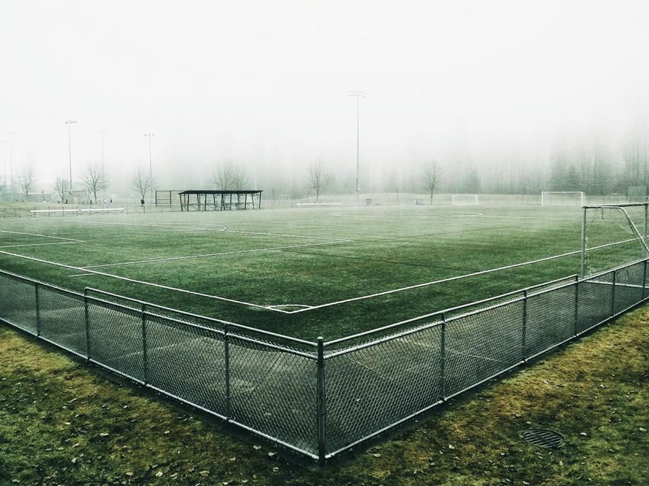 Campo calcio vuoto